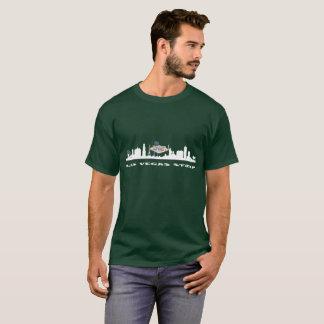 ラスベガスのストリップの人の暗いワイシャツ Tシャツ