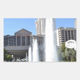 ラスベガスのストリップの噴水 長方形シール