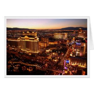 ラスベガスのストリップの日没の挨拶状 カード