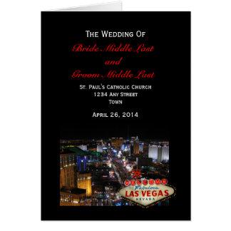 ラスベガスのストリップの結婚式プログラム カード