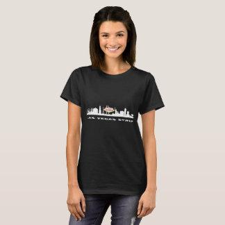 ラスベガスのストリップの誕生日の女性の暗いTシャツ Tシャツ