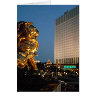 ラスベガスのストリップを見ること上のMGMのライオン カード