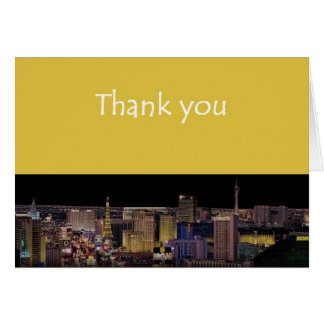 ラスベガスのストリップカードありがとう カード