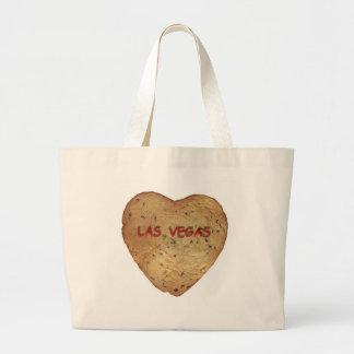 ラスベガスのチョコレートチップスのハートのクッキーのクラシックなバッグ ラージトートバッグ