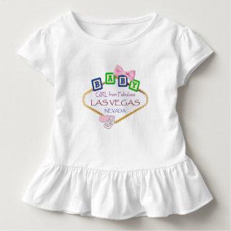 ラスベガスのティーからの幼児のひだの女の赤ちゃん トドラーTシャツ