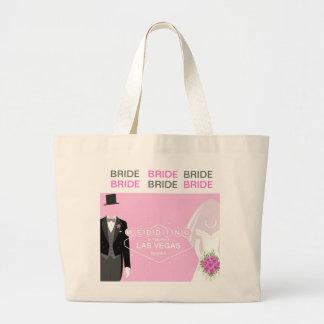 ラスベガスのバッグの花嫁の結婚式 ラージトートバッグ