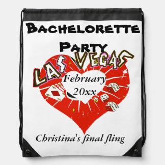 ラスベガスのバレンタインのバチェロレッテ ナップサック