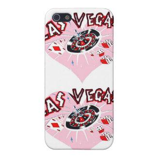 ラスベガスのピンクのハート iPhone SE/5/5sケース