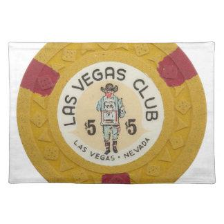 ラスベガスのベビー! ポーカー用のチップのカジノ夜賭博 ランチョンマット