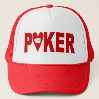 ラスベガスのポーカープレイヤーの幸運な帽子のハート キャップ