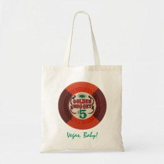 ラスベガスのポーカー用のチップの名前入りなトートのギフトバッグ トートバッグ