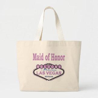 ラスベガスのメイド・オブ・オーナー(花嫁付き添い人)のクラシックなバッグのラベンダー ラージトートバッグ