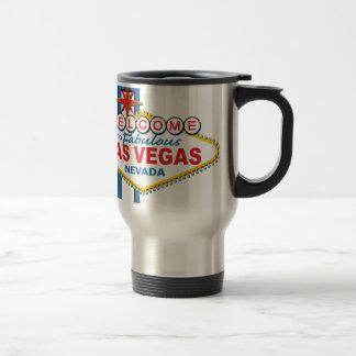 ラスベガスのレトロの印 トラベルマグ