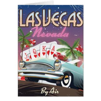 ラスベガスのヴィンテージのスタイルの休暇ポスター カード