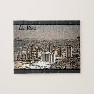 ラスベガスのヴィンテージ景色都市パズル ジグソーパズル