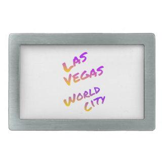 ラスベガスの世界都市、多彩な文字の芸術 長方形ベルトバックル