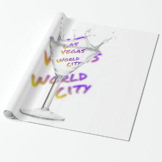 ラスベガスの世界都市、水ガラス ラッピングペーパー