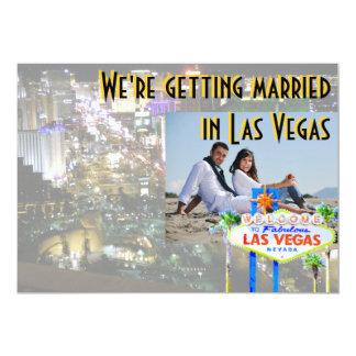 ラスベガスの写真カードの結婚 12.7 X 17.8 インビテーションカード