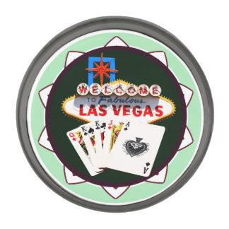 ラスベガスの印および2人の王ポーカー用のチップ ガンメタル ラペルピン