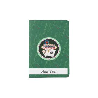 ラスベガスの印および2人の王ポーカー用のチップ パスポートカバー