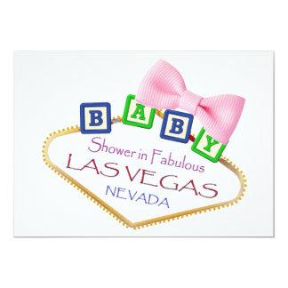ラスベガスの女の子の招待状のベビーシャワー 12.7 X 17.8 インビテーションカード