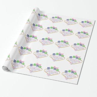 """ラスベガスの女の赤ちゃんの包装紙、30"""" x 6 ラッピングペーパー"""