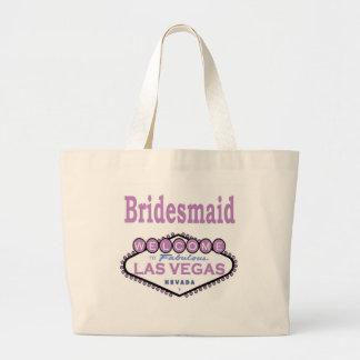 ラスベガスの新婦付添人のクラシックなバッグのラベンダー ラージトートバッグ