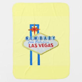 ラスベガスの新生児の黄色 ベビー ブランケット