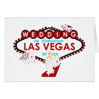 ラスベガスの王室のな結婚式の招待状 グリーティングカード