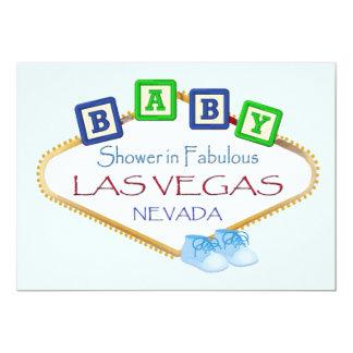 ラスベガスの男の子の招待状のベビーシャワー 12.7 X 17.8 インビテーションカード