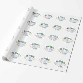 """ラスベガスの男の赤ちゃんの光沢のある包装紙、30"""" x 6' ラッピングペーパー"""