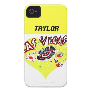 ラスベガスの相場師の黄色のハート Case-Mate iPhone 4 ケース
