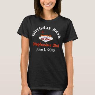 ラスベガスの第21誕生日の女性Tシャツ Tシャツ