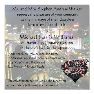 ラスベガスの結婚式のカジノのハート カード