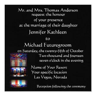 ラスベガスの結婚式のスロットマシン カード