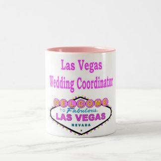 ラスベガスの結婚式の調整者のマグ ツートーンマグカップ