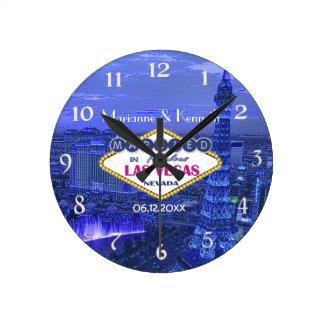 ラスベガスの結婚式 ラウンド壁時計
