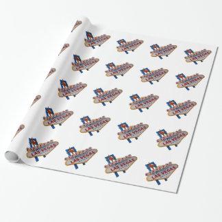ラスベガスの誕生日の包装紙 ラッピングペーパー