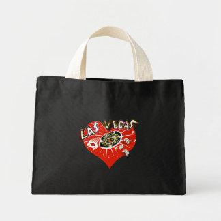 ラスベガスの赤いバレンタインのハート ミニトートバッグ