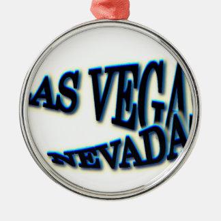 ラスベガスの青い波 メタルオーナメント
