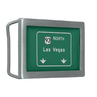 ラスベガスのNVの交通標識 長方形ベルトバックル