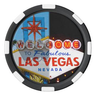 ラスベガスへようこそ-昼も夜も ポーカーチップ
