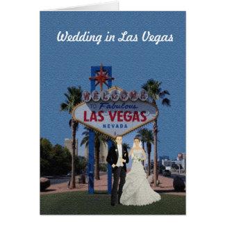 ラスベガスカードの結婚 グリーティングカード