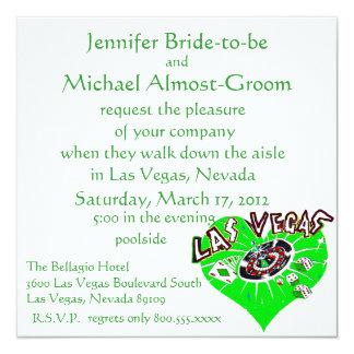 ラスベガスセントパトリックの結婚式 カード