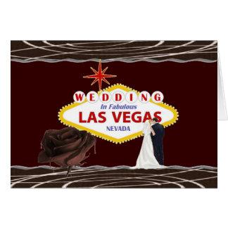 ラスベガスチョコレートの結婚は、花嫁及び新郎上がりました グリーティングカード