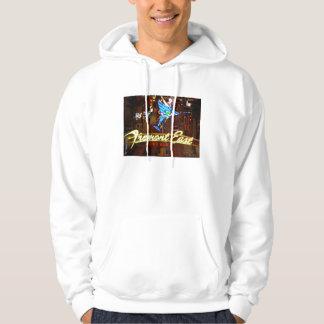ラスベガスネオンマルティーニのガラスフード付きのセーター パーカ