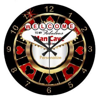 ラスベガス流の人の洞窟への歓迎! 壁時計