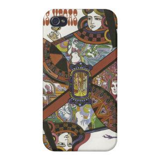 ラスベガス米国のヴィンテージ旅行ケース iPhone 4/4Sケース