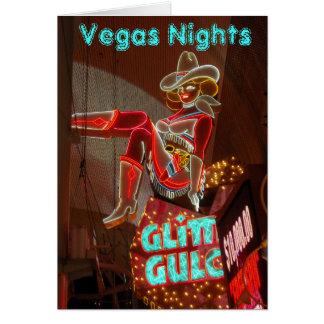 ラスベガス都心の夜 カード