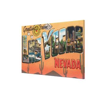 ラスベガス、ネバダ-大きい手紙場面 キャンバスプリント